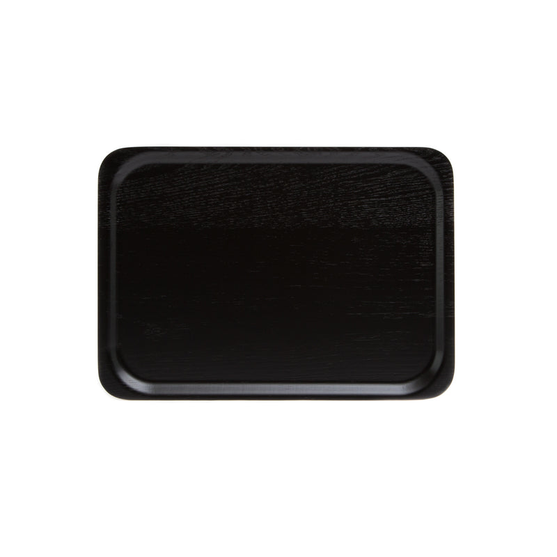 Rectangle Tray-Tray-Saito Wood-Ash Black-JINEN