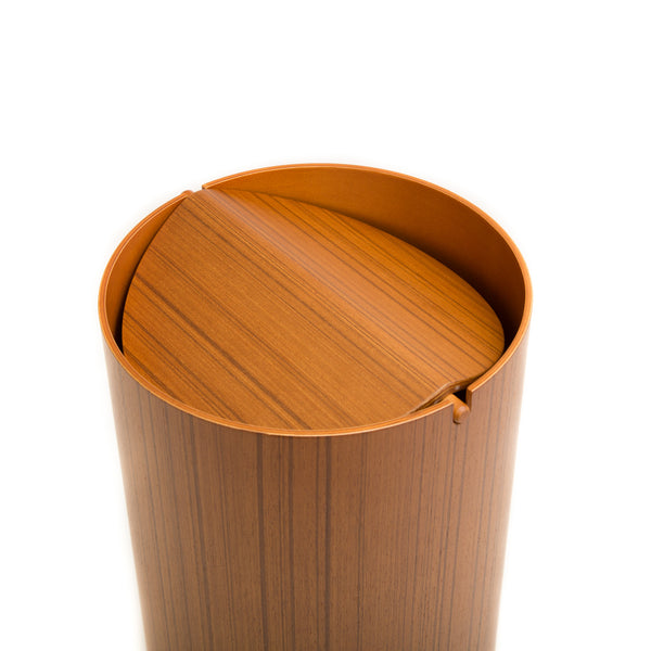 Waste Basket With Lid - Large, Ayous-Waste Basket-Saito Wood-JINEN