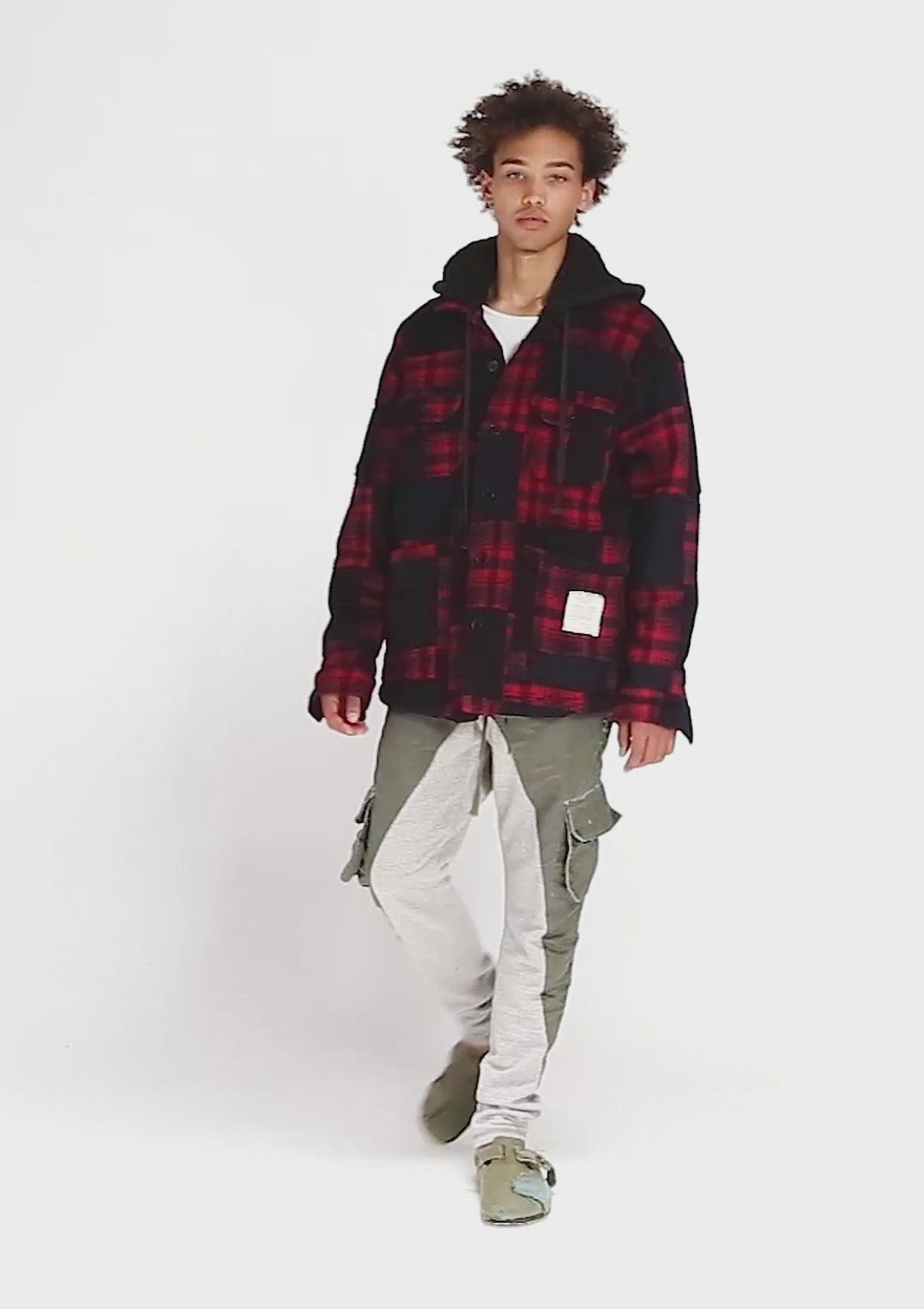 SAILOR / PLAID HOODED BOXY