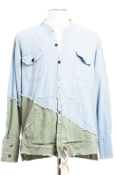 50/50 CHAMBRAY / ARMY STUDIO SHIRT