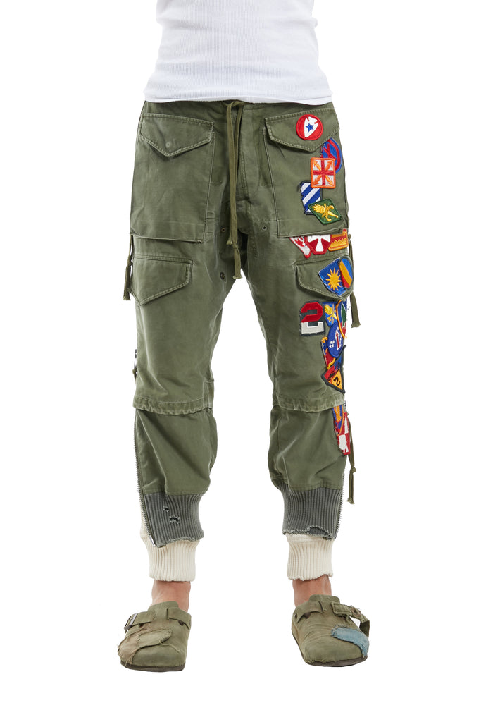 ARMY PATCHWORK ZIP LOUNGE