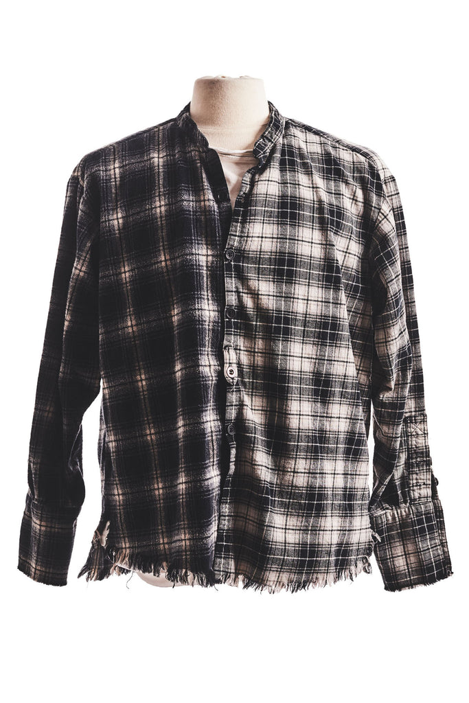 MIXED BLACK PLAID STUDIO SHIRT