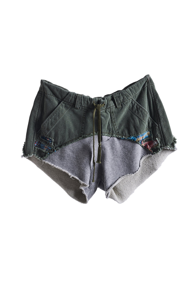 50/50 SHORT (ARMY BAKER / GREY FLEECE)