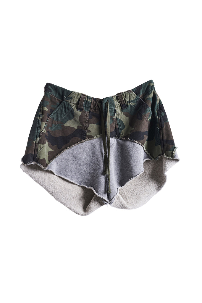 50/50 SHORT (ARMY CAMO / GREY FLEECE)