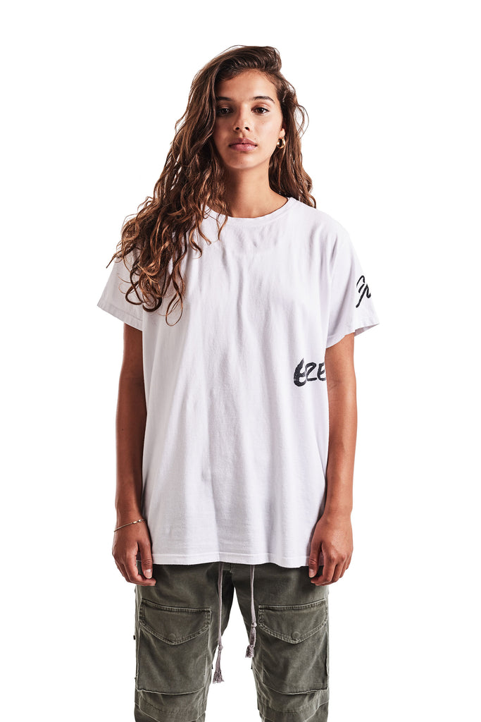 WHITE DECONSTRUCTED GL TEE
