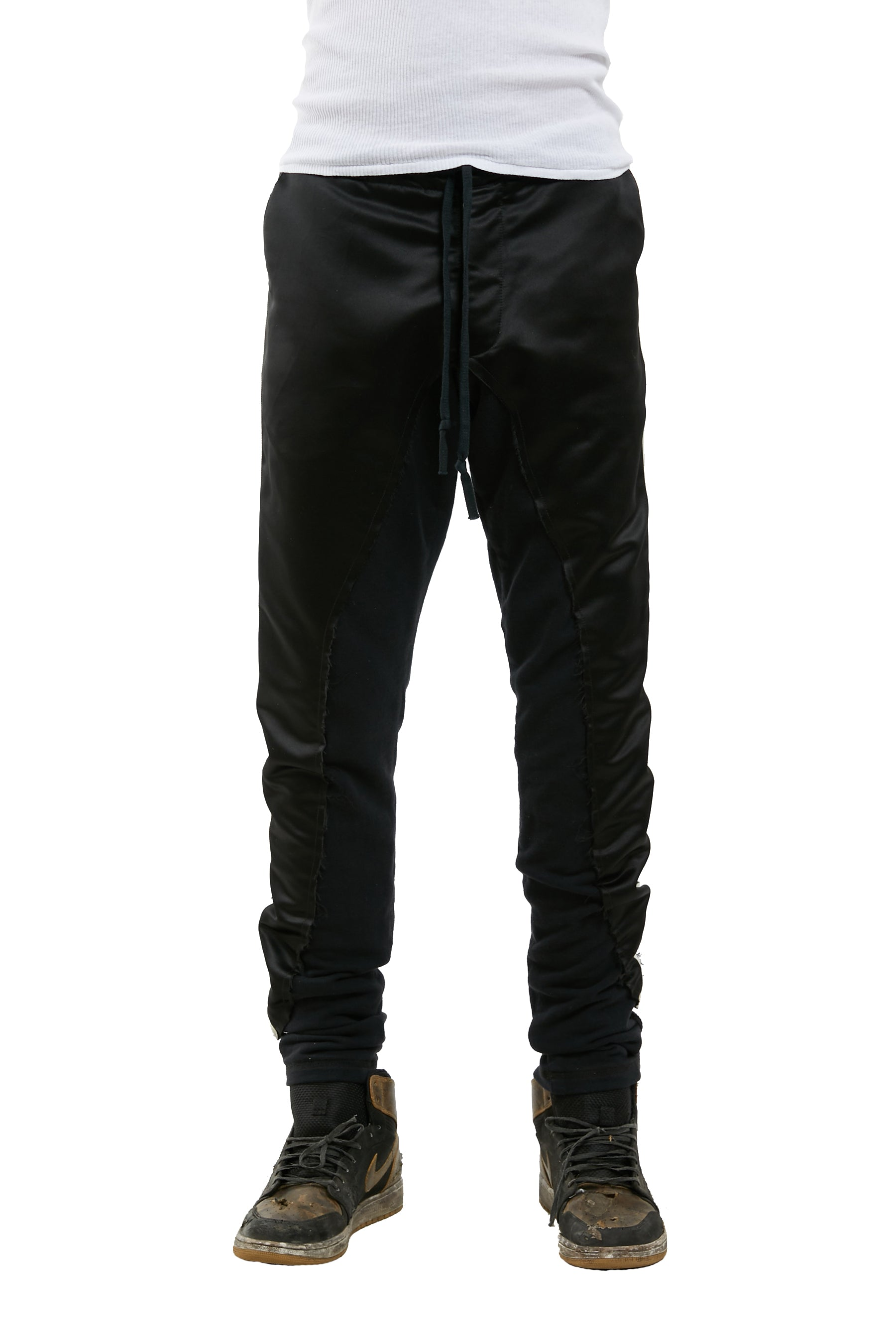 50/50 LONG SLIM (BLACK SATIN / FLEECE)