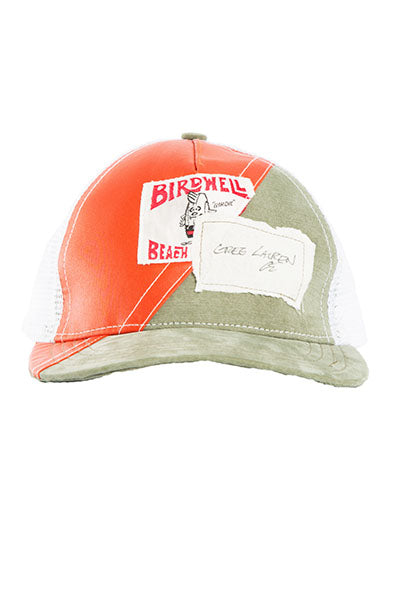 50/50 ORANGE / ARMY TRUCKER HAT