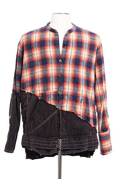 50/50 Orange Black Plaid / Birdwell Studio Shirt