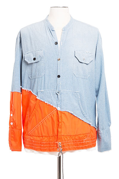 50/50 CHAMBRAY / ORANGE BIRDWELL STUDIO SHIRT