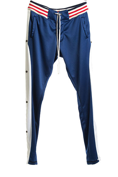 NAVY BORG LONG PANT