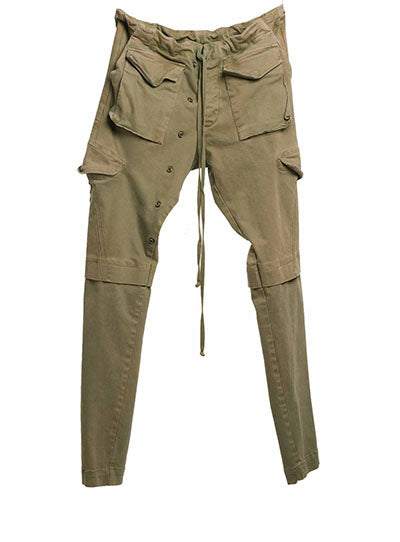 Army Stetch Denim Long Cargo Pant