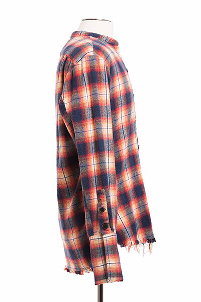 Orange Black Plaid Studio Shirt