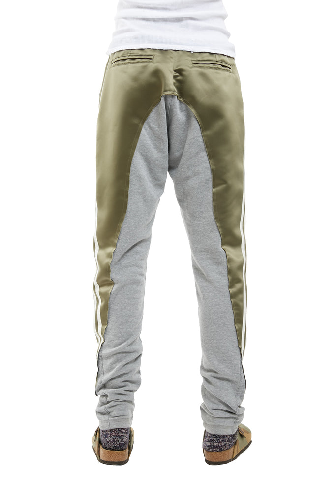 SATIN/FLEECE 50/50 LONG SLIM PANT