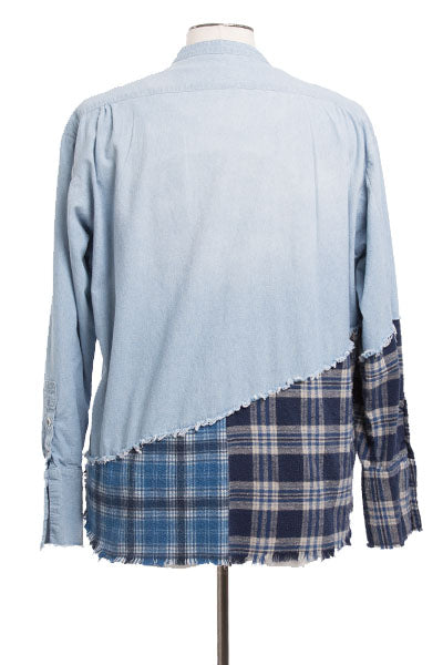50/50 CHAMBRAY / BLUE PLAID STUDIO SHIRT