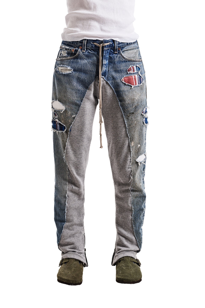 50/50 DENIM/TERRY LOUNGE PANT