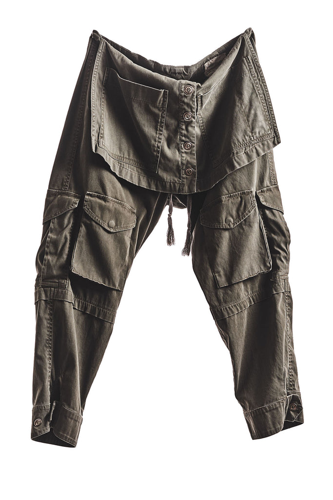 ARMY APRON CROPPED PANT