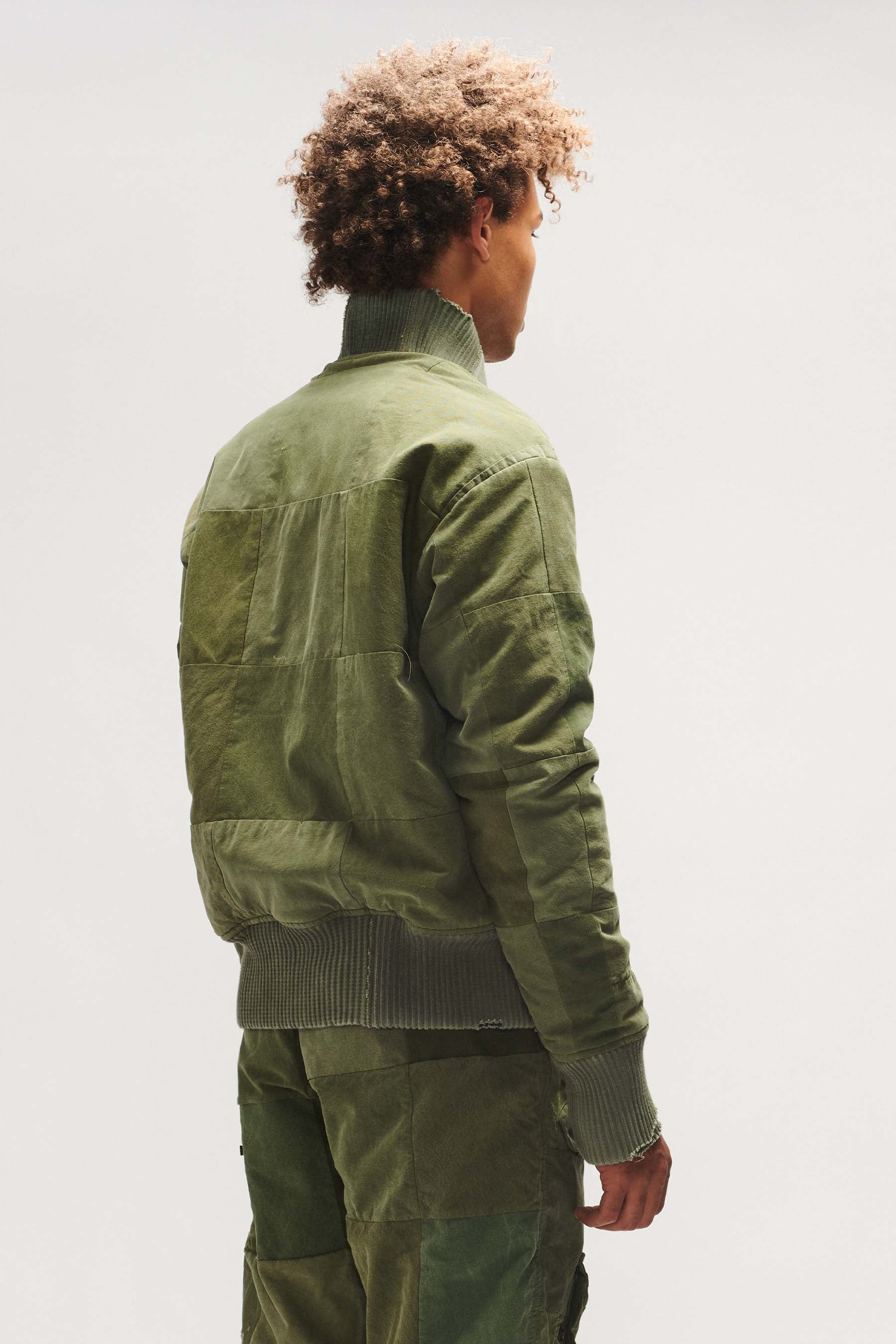 TENT SCRAPWORK FLIGHT JACKET ARMY