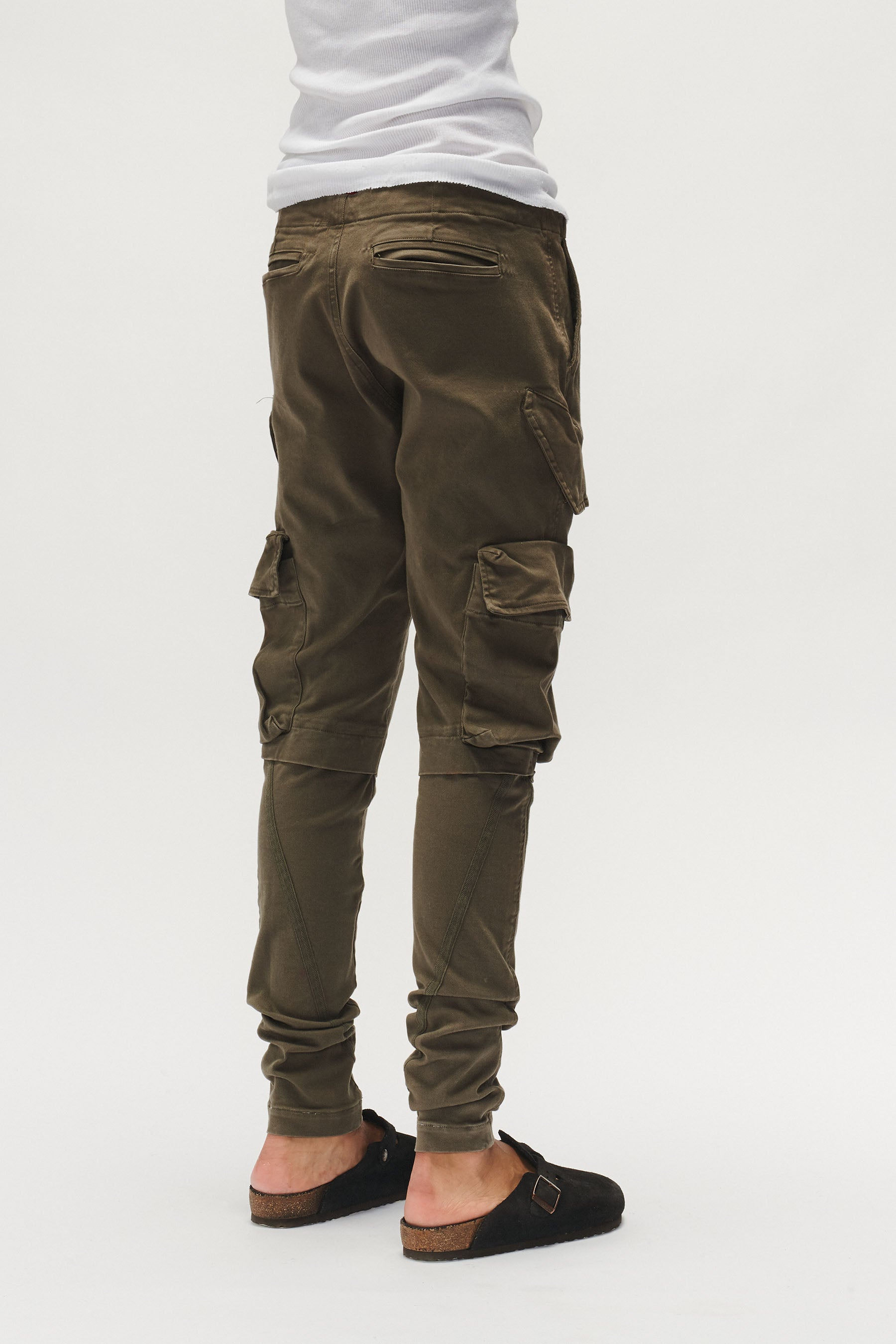 STRETCH DENIM CARGO (ARMY)