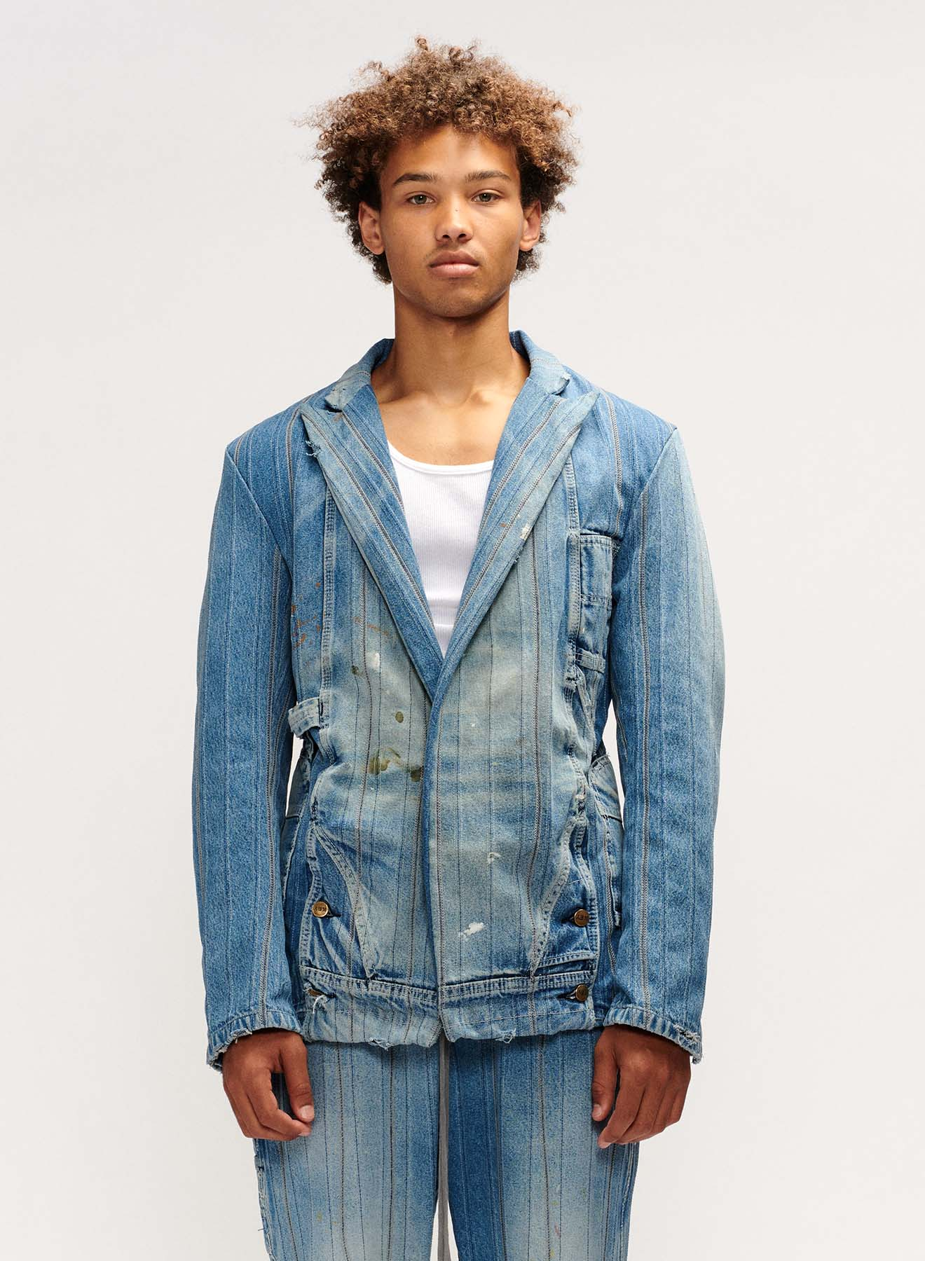 PINSTRIPE OVERALL OLLIE