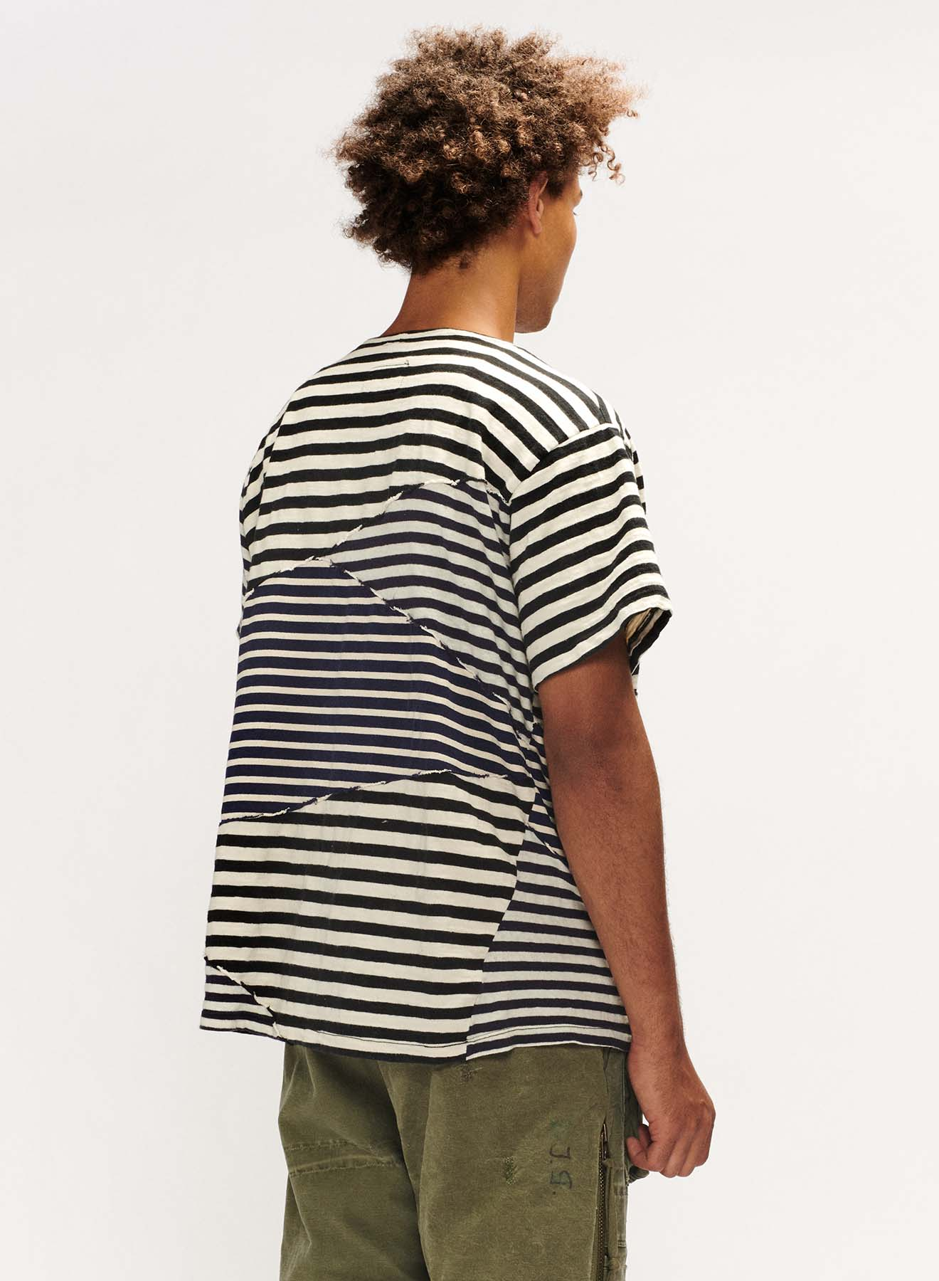 MIXED STRIPED TEE