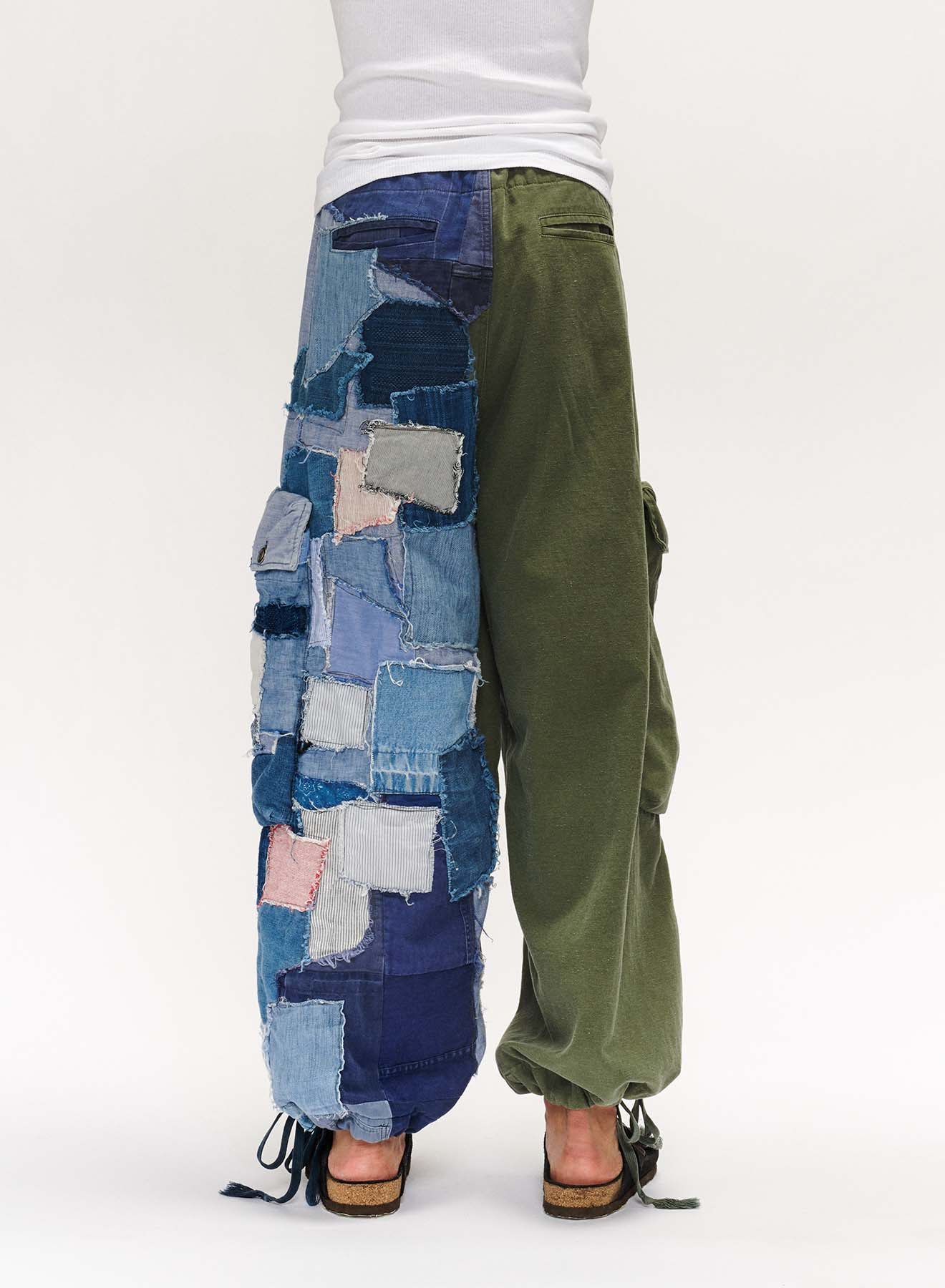 ARMY/PATCHWORK WIDE LEG LOUNGE