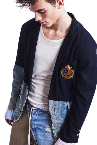 50/50 Navy Prep / Denim Blazer