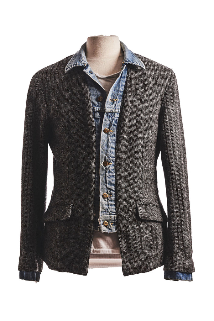 DENIM / HERRINGBONE BLAZER