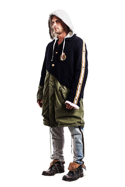 50/50 NAVY PREP / ARMY FISHTAIL PARKA