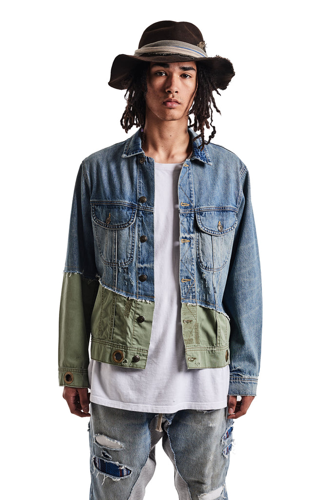 50/50 DENIM / ARMY TRUCKER