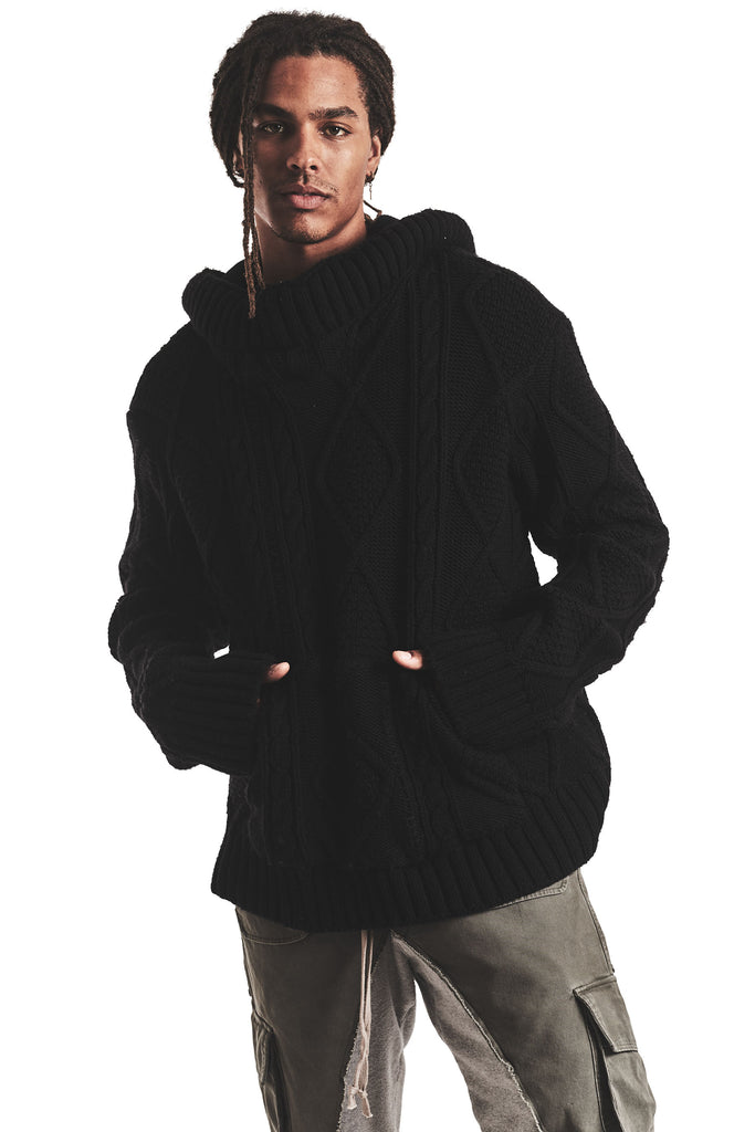 BLACK FISHERMAN HI TECH HOODIE