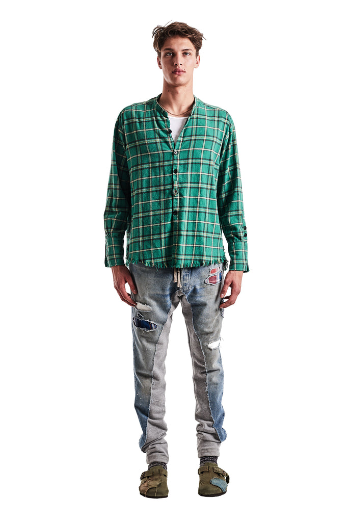 GREEN PLAID STUDIO SHIRT