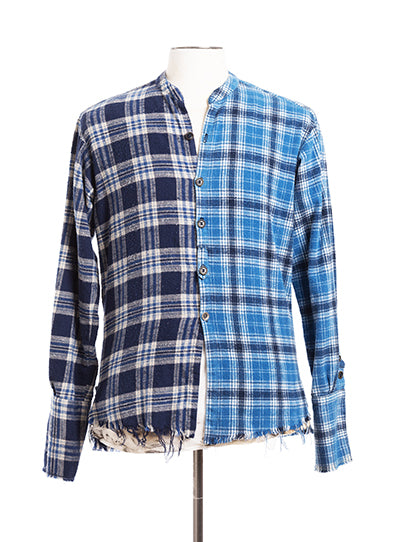 Mixed Blue Plaid Studio Shirt