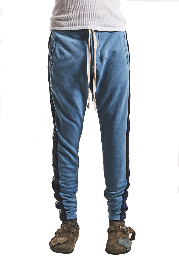 BLUE LONG PANT WITH MIXED STRIPES