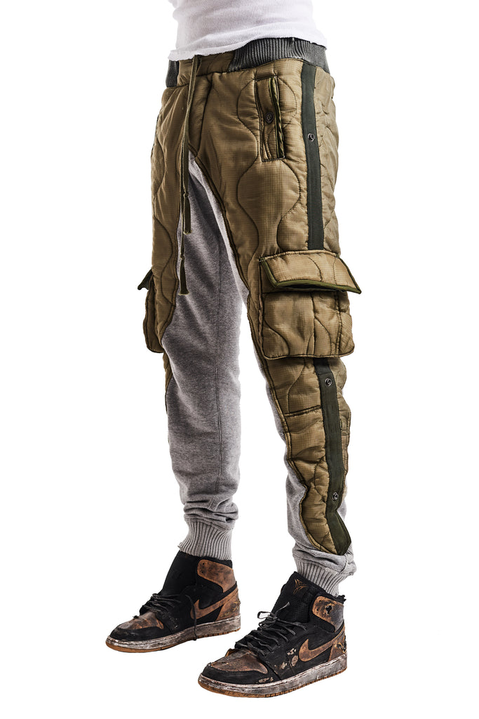 50/50 ARMY PUFFY TERRY LONG PANT