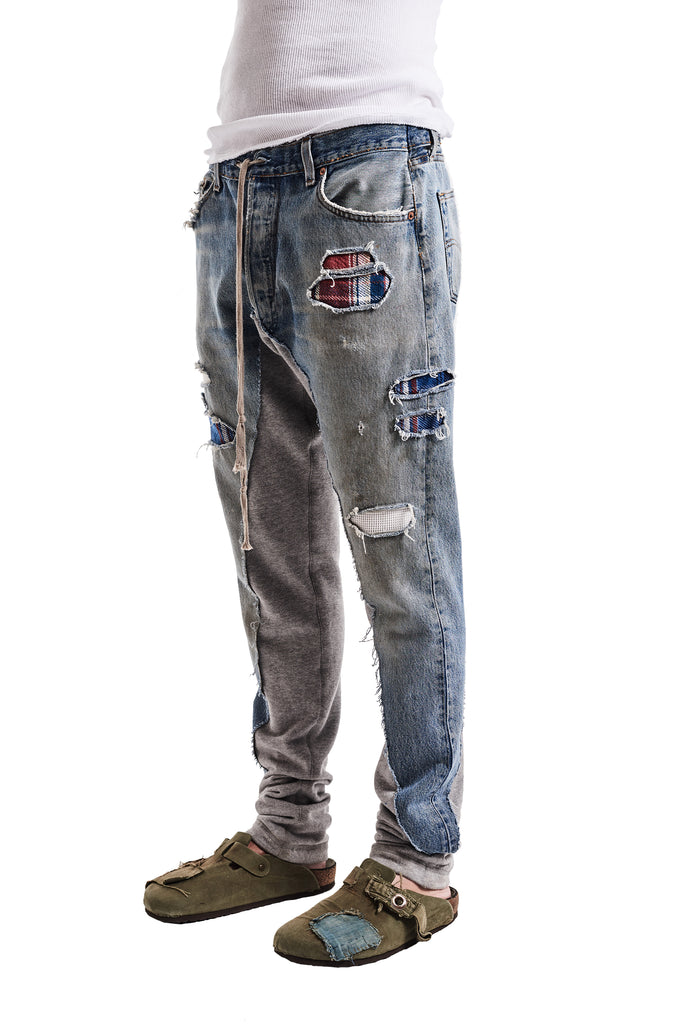 50/50 DENIM/TERRY LONG PANT