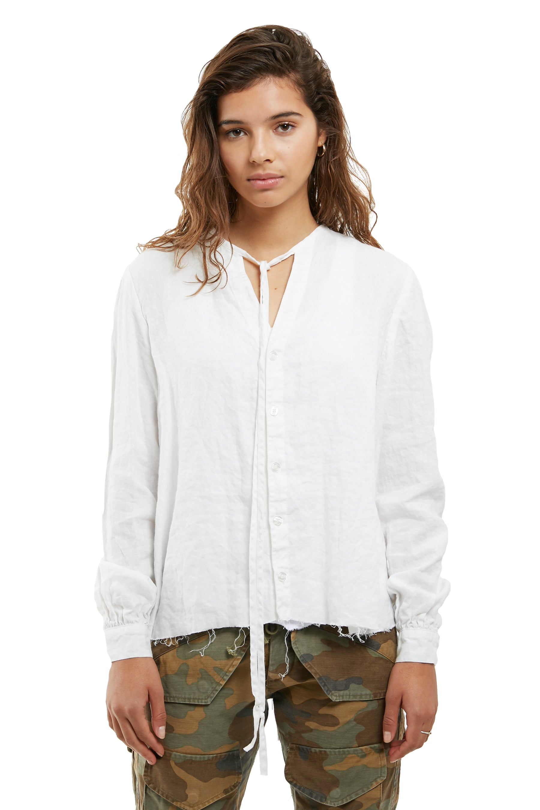 WOMENS BOHO BLOUSE (WHITE)