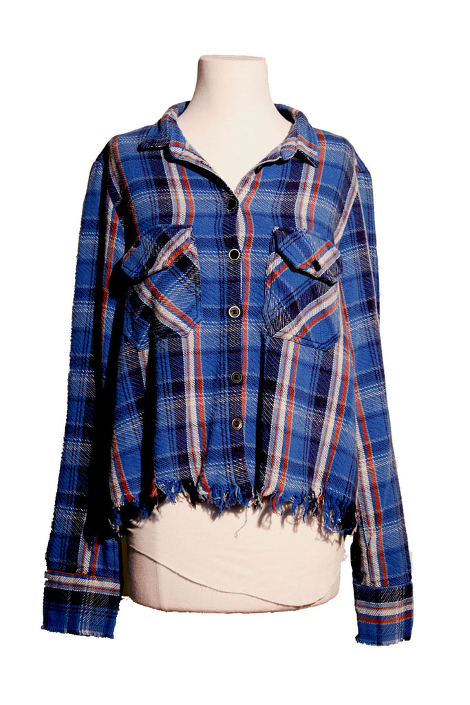BLUE PLAID CHRISTIAN STUDIO SHIRT