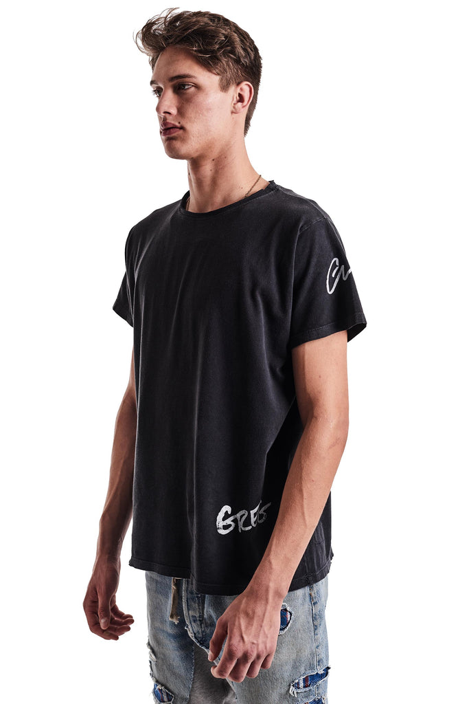 BLACK DECONSTRUCTED TEE