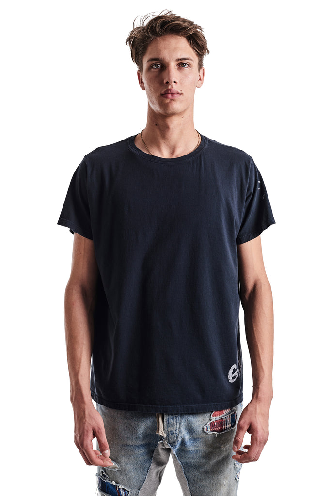 NAVY DECONSTRUCTED GL TEE