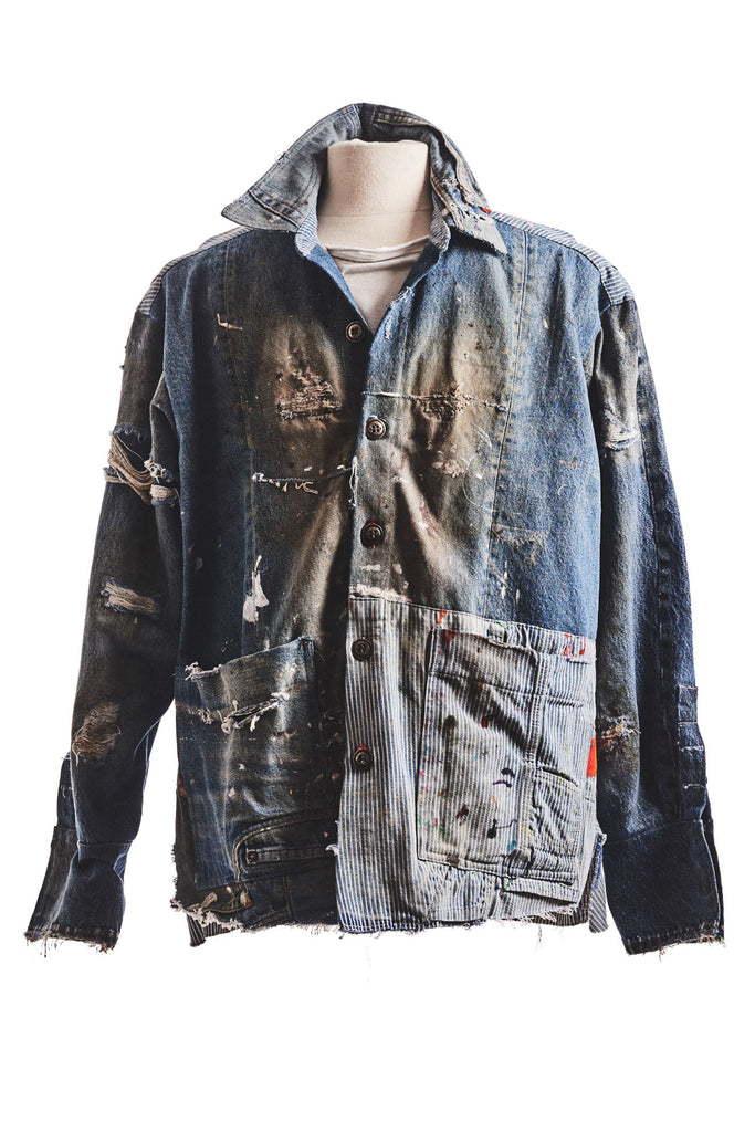 DENIM / ENGINEER PAINTED BOXY STUDIO JACKET