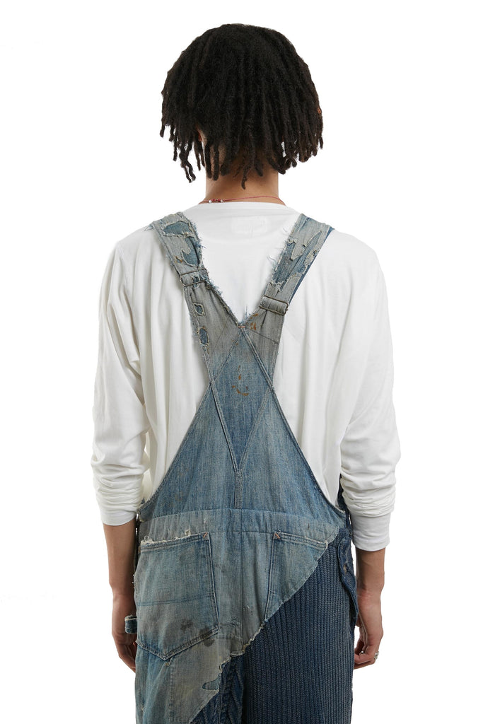DENIM/KNIT 50/50 OVERALL