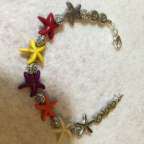 EL #2 Bracelet Multi-Colored Starfish