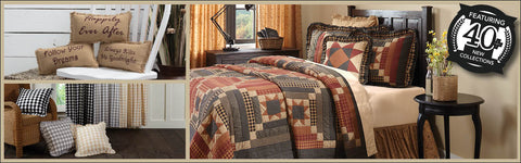 VHC Brands Quilts, Bedding, Curtains, Rugs, Table Linens and Seasonal Decor - The Village Country Store