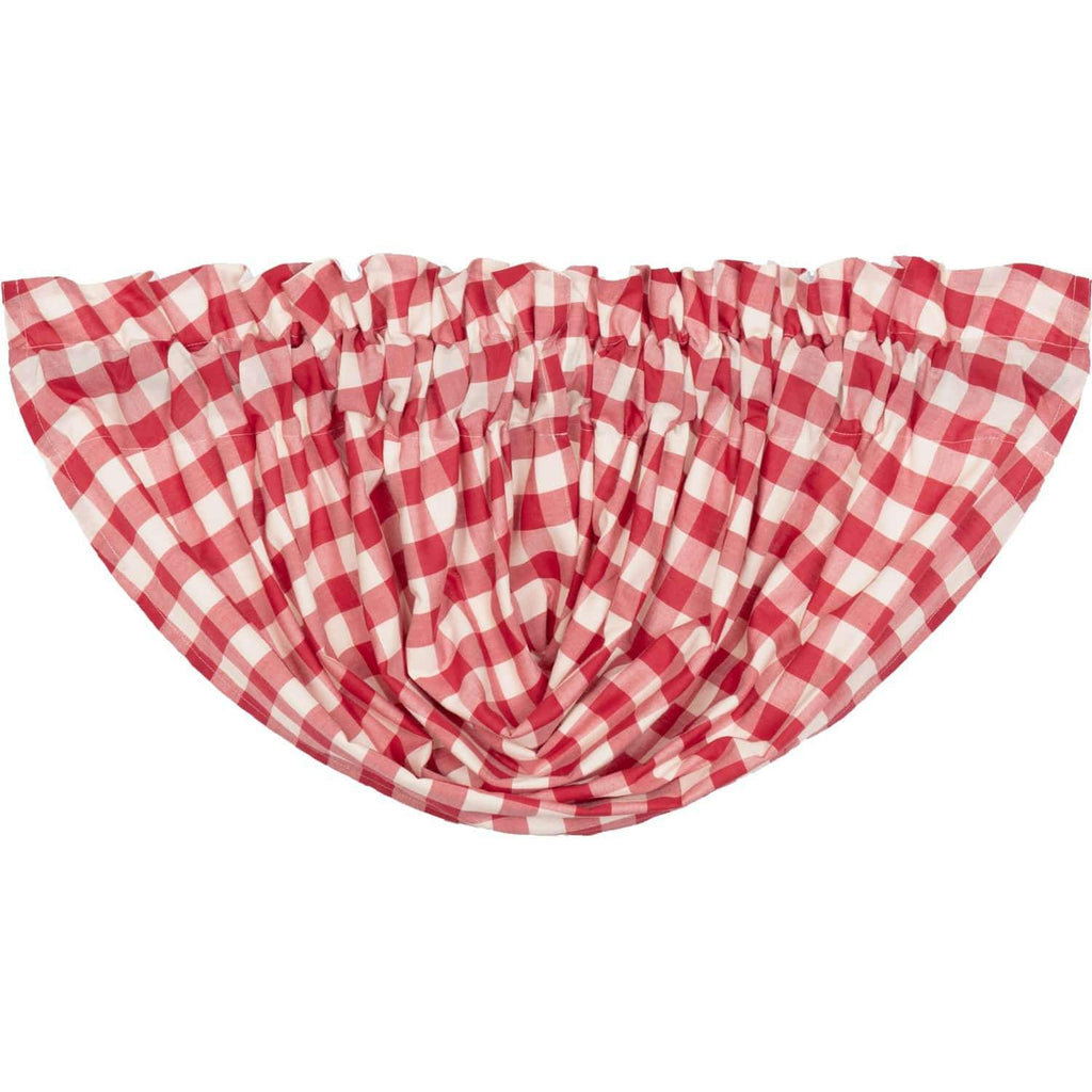 April & Olive Balloon Valance Annie Buffalo Red Check Balloon Valance 15x60