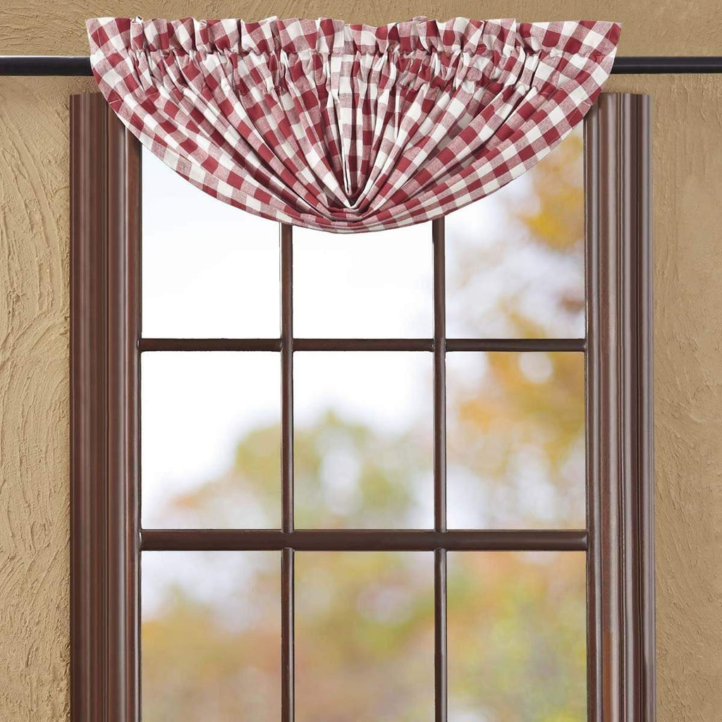April & Olive Balloon Valance Buffalo Red Check Balloon Valance 15x60