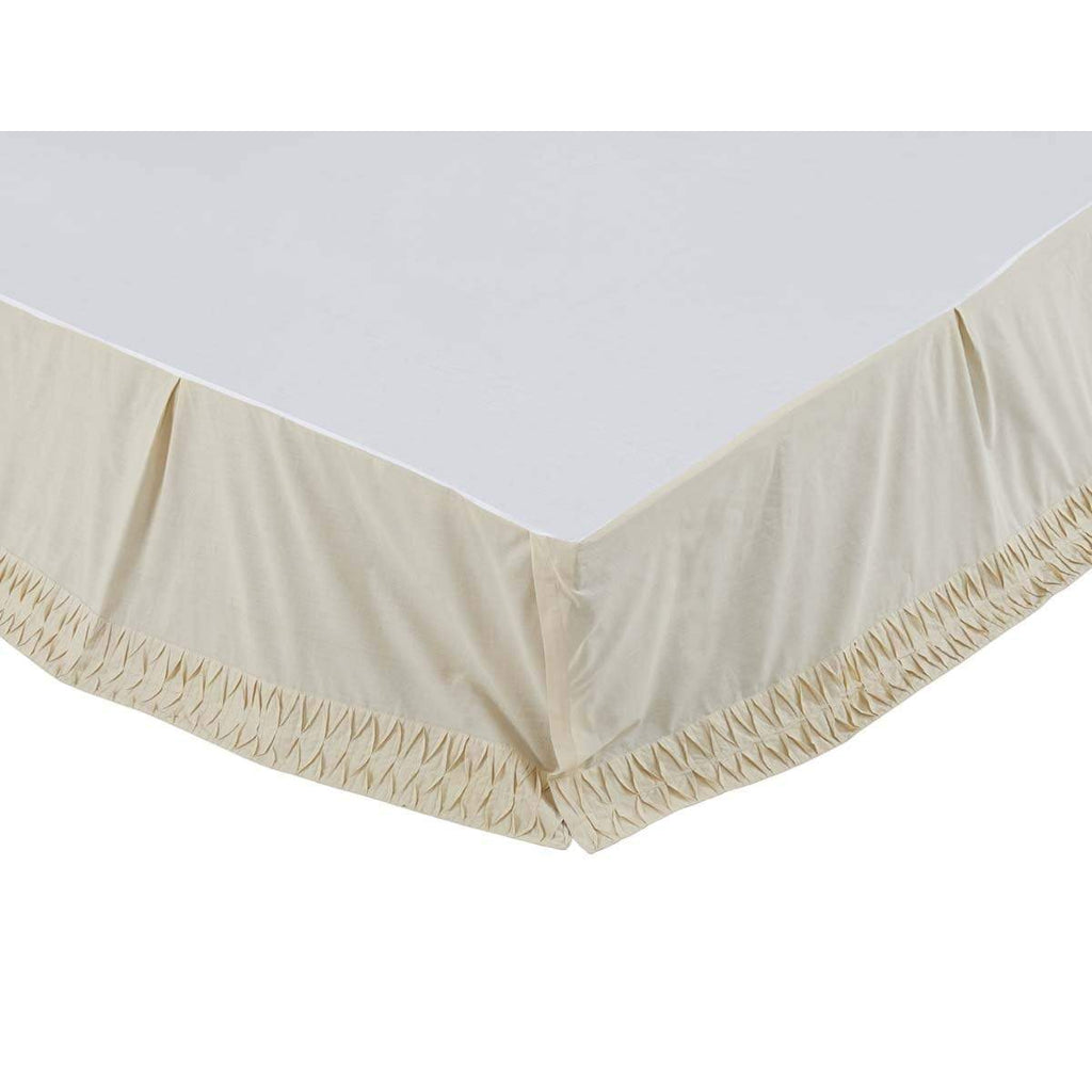 April & Olive Bed Skirt Adelia Creme Twin Bed Skirt 39x76x16