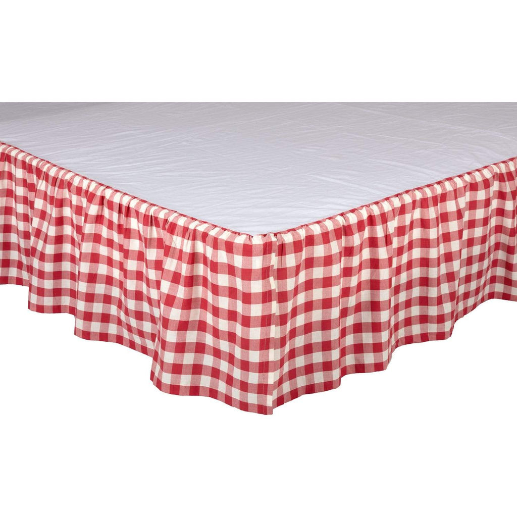 April & Olive Bed Skirt Annie Buffalo Red Check Queen Bed Skirt 60x80x16