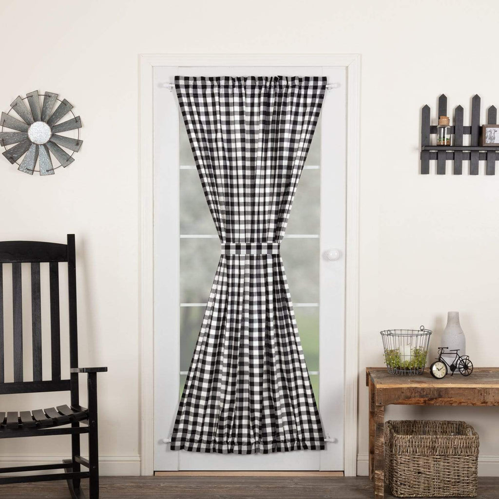 April & Olive Door Panel Annie Buffalo Black Check Door Panel 72x42