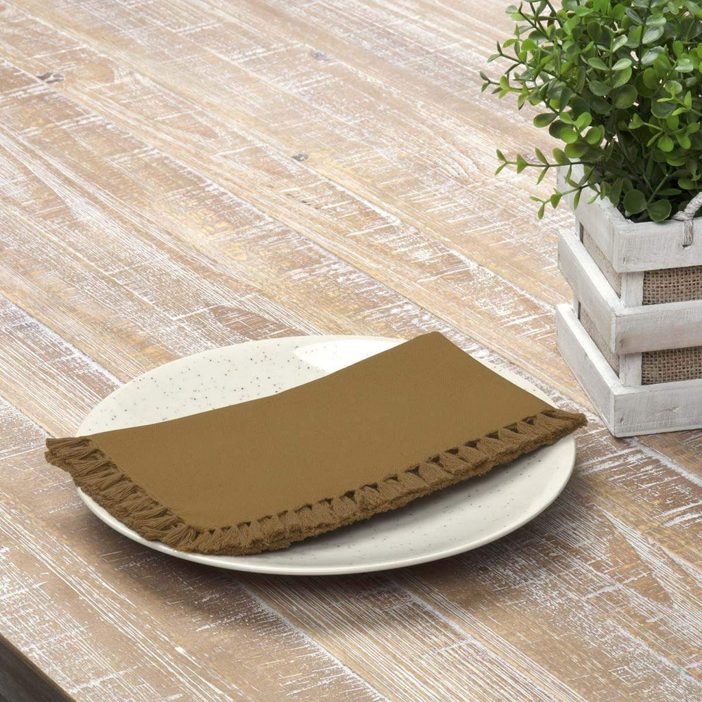 April & Olive Napkin Cassidy Gold Napkin Set of 6 18x18