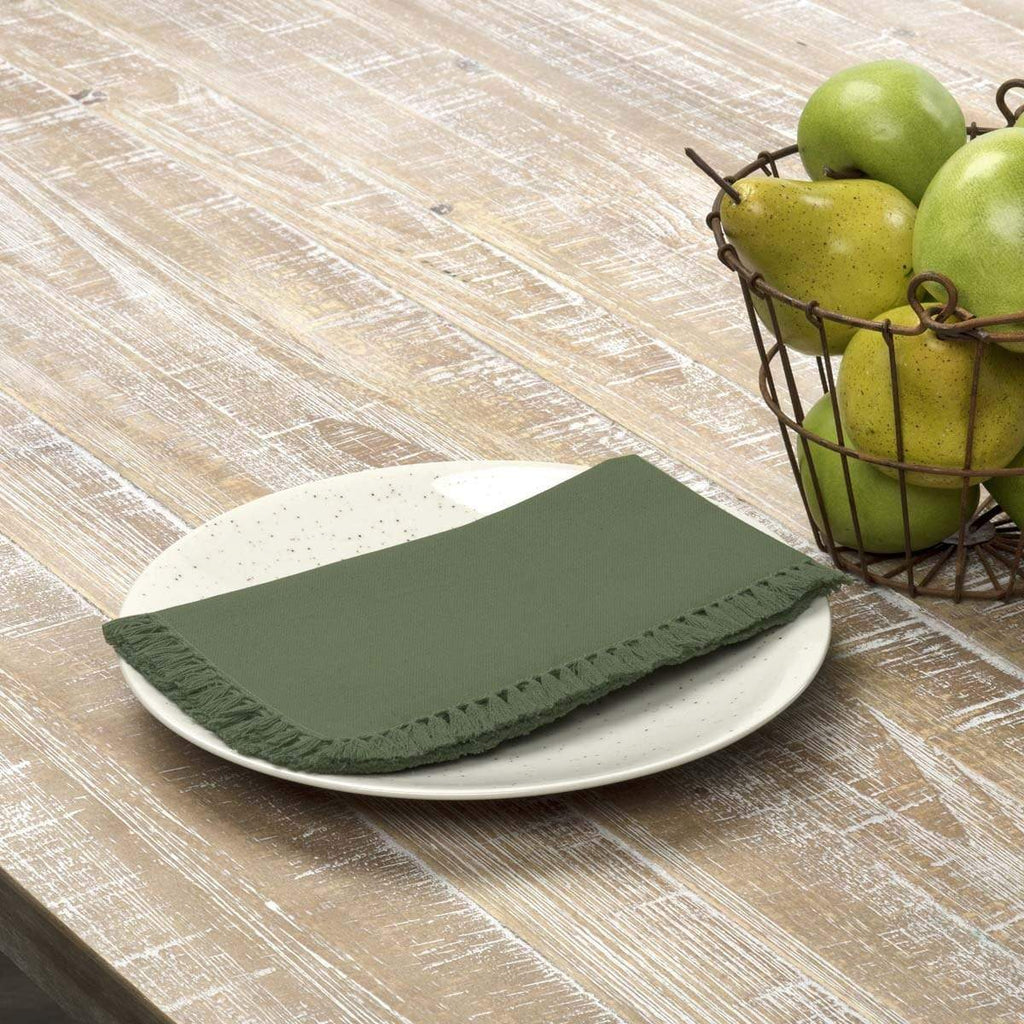 April & Olive Napkin Cassidy Green Napkin Set of 6 18x18